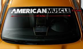 Product American Muscle Car Murica Windshield Banner Premium Vinyl Decal Sticker 45x3 5