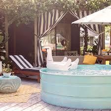 14 Stylish Stock Tank Pool Ideas Diy Backyard Trough Swimming Pools