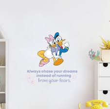 Design With Vinyl Your Fears Daisy Donald Duck Disney Life Vinyl Wall Decal Wayfair