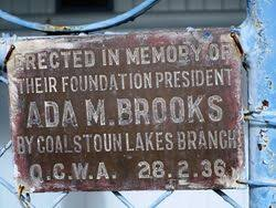 Ada Brooks | Monument Australia