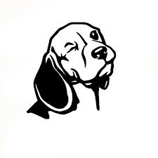 16cm 15cm Beagle Wall Decal Car Decor Vinyl Sticker Dog Head Wall Art Mural Living Room Wall Decoration 6 Colors Wish