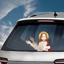 Jesus Waving Wiper Decals Pvc Car Styling Rear Window Wiper Stickers Rear Windshield Car Stickers And Decals For Auto Products Car Stickers Aliexpress