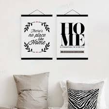 black and white inspire family quotes typography • framed scroll