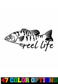 Vinyl Decal Truck Car Sticker Laptop Hunting Fishing Reel Girls Fish Heart 4 00 Picclick