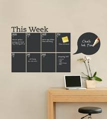 Weekly Chalkboard Calendar Wall Decal Contemporary Wall Decals By Simple Shapes