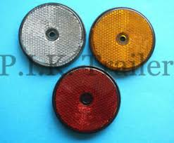 60mm Dia Round Reflectors Driveway Fence Gate Post Trailer Caravan Motor Home Ebay