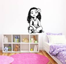 Princess Room Decor Vinyl Wall Decal Moana Cartoon Movie Character Wall Stickers For Kids Rooms Girls Room Decoration D702 Buy At The Price Of 8 19 In Aliexpress Com Imall Com