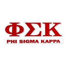 Phi Sigma Kappa Greek Letter Decal University Of Alabama Supply Store