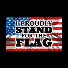 6 I Proudly Stand For The Flag Vinyl Decal 2 Pack Wesellspirit Com