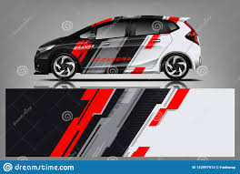 Car Decal Wrap Design Graphic Abstract Stripe Racing Background Kit Designs For Vehicle Race Car Rally Adventure And Li Stock Vector Illustration Of Creative Advertising 142997913