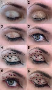 make cheetah print eye makeup