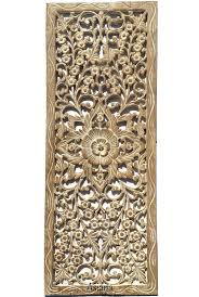 carved wood wall decor panel for