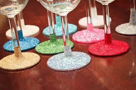 how to make glitter wine glasses diy