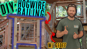 Deck Railing With Hog Wire Panels Youtube