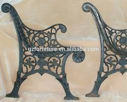2 vintage salvaged cast iron park bench
