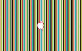 تفاحة على خطوط ملونة عالية الدقة خلفيات سطح المكتب عريضة عالية