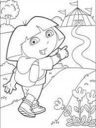 Kleurplaten Kleurplaat Dora