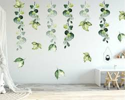 Foliage Branch Leaves Botanic Wall Stickers Nursery Decal Kids Decor Art Mural Ebay