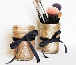 mason jar makeup brush holders pictures