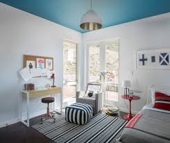 San Francisco Navy And White Striped Rug Kids Contemporary With Glider Mounted Baby Mobiles Smart House