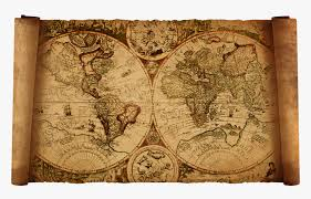 clip art old fashioned world map