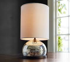 100 mercury glass lamp brushed