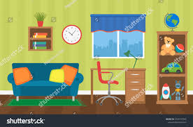 Cozy Interior Childrens Room Toys Furniture Stock Vector Royalty Free 1033137565