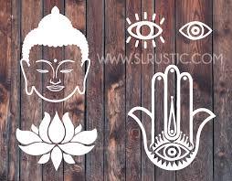 Namaste Decals Buddha Head Decal Evil Eye Decal Hamsa Hand Decal L Slrustic