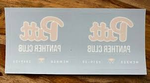 2 Pittsburgh Pitt Panthers Panther Club 2019 Window Stickers Decals New Football Ebay