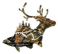 Amazon Com Buck Deer Fish Trees Hunting Decal Buck Deer Sticker Decal Tumbler Yeti Decal Vinyl Sticker Decal Handmade