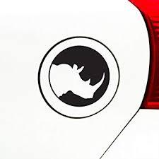 Amazon Com Rhino Silhouette Circle Vinyl Decal For Water Bottle Thermos Car Gas Cap Yadda Yadda Design Co 3 Black Small Automotive