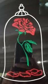Disney Beauty And The Beast Belle Rose Vinyl Window Car Decal Sticker Ebay