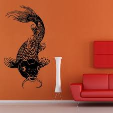 Amazon Com Wall Decal Koi Fish Carp Japan Symbol Happiness Water Dragon China M893 Handmade