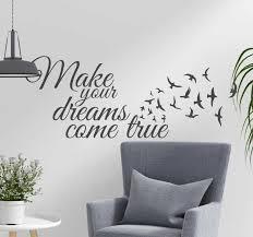 Make Your Dreams Come True Wall Text Sticker Tenstickers