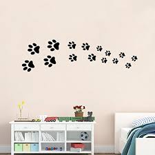 dog paw prints wall decal nursery
