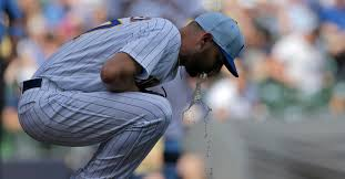 Brewers' Adrian Houser Keeps Puking on the Field, And It's Working ...