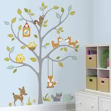 Woodland Fox Friends Tree Wall Decals