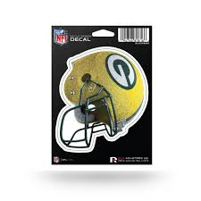 Green Bay Packers Bling Medium Die Cut Helmet Decal Green Bay Stuff
