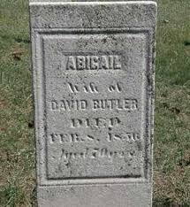 BUTLER, ABIGAIL - Erie County, Ohio | ABIGAIL BUTLER - Ohio Gravestone  Photos