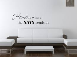 Home Is Where The Navy Sends Us Vinyl Wall Decal Sticker Decoration Vinyl Wall Decals Sticker Decor Wall Decal Sticker