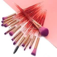 red diamond makeup brushes set powder