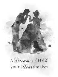 Cinderella Quote Art Print Dance Prince Charming Nursery Gift Wall Art Home Decor Black And White My Subject Art
