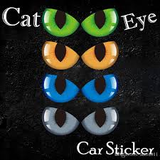 2020 Personality Cat Eye Sticker For Auto Rear View Mirror Body Rear Window Glass 24 9 Cm Car Decals From Auto2011 2 02 Dhgate Com