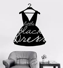 Amazon Com Wall Decal Window Sticker Beauty Salon Woman Face Fashion Style Clothing Boutique Dress Black Dress Model Hat T242 Handmade