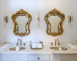 gold rococo mirror transitional