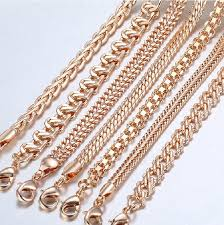 7pcs 585 rose gold curb chain weaving