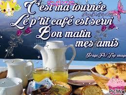 Good Morning voici le petit déjeuner et bonne journée ma création ...