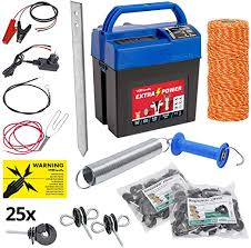 Extra Power Electric Fence Kit With Wire And Accessories Electric Fencing Riding Horse Cow Pony Voss Farming Amazon Co Uk Garden Outdoors