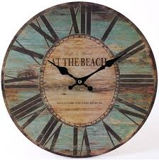 vintage nautical wooden wall clock