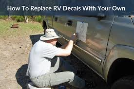 How To Replace Rv Decals With Your Own Ditching Suburbia